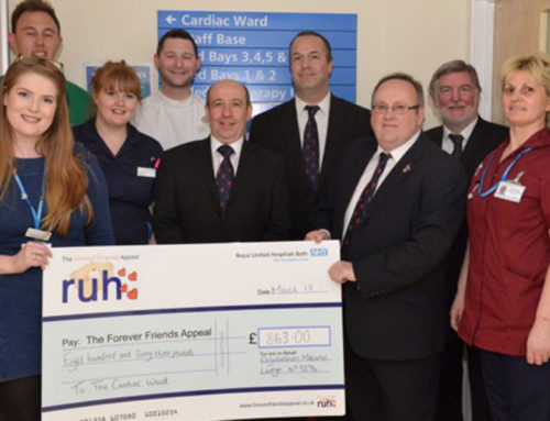 Elizabethan Lodge raises £863 for RUH Cardiac Ward