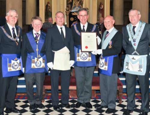 Denis receives his 50th Certificate from the PGM