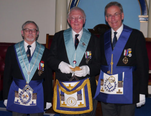 W Bro Paul Cooper Installed as Master