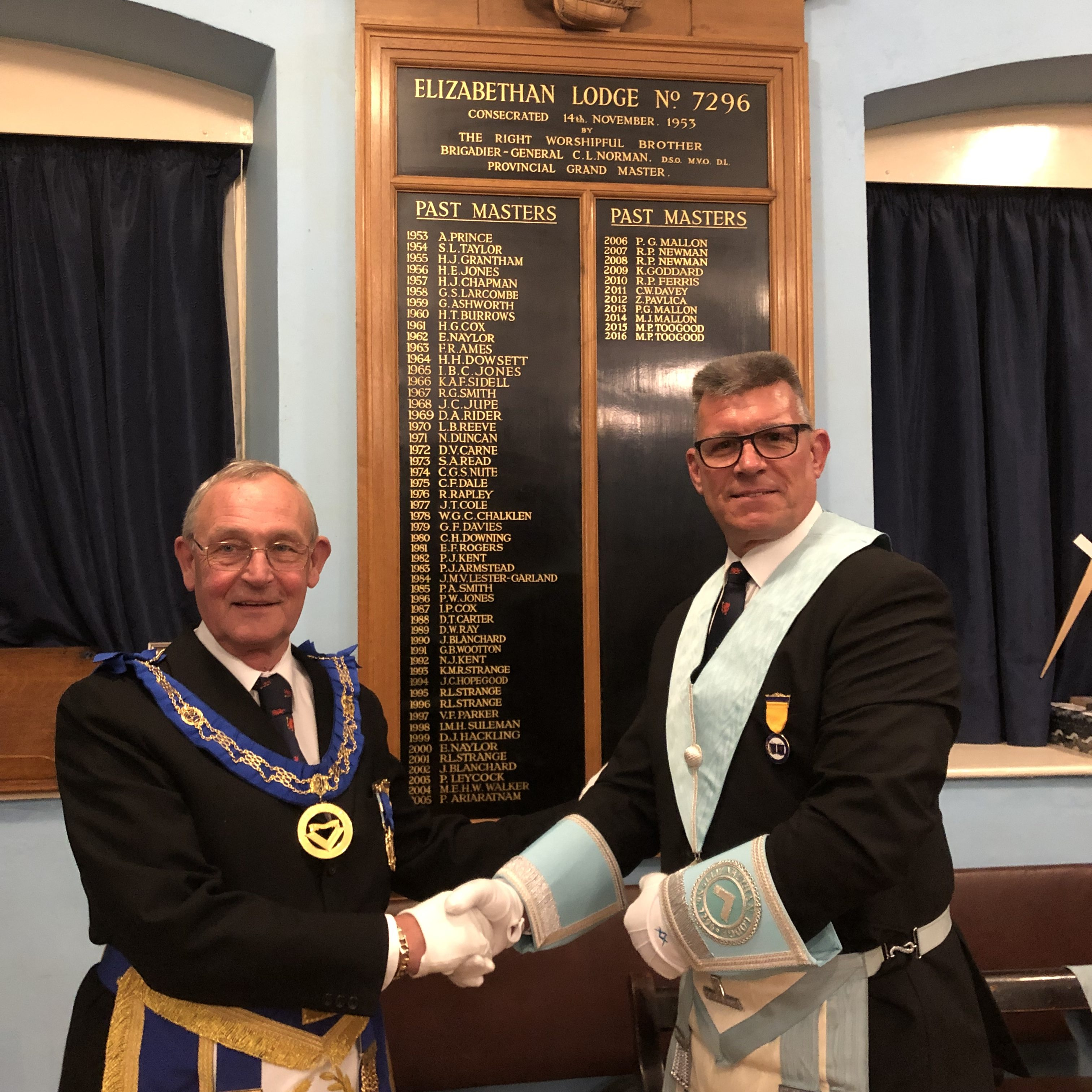 Installation 2019 – a Changing of the Guard!